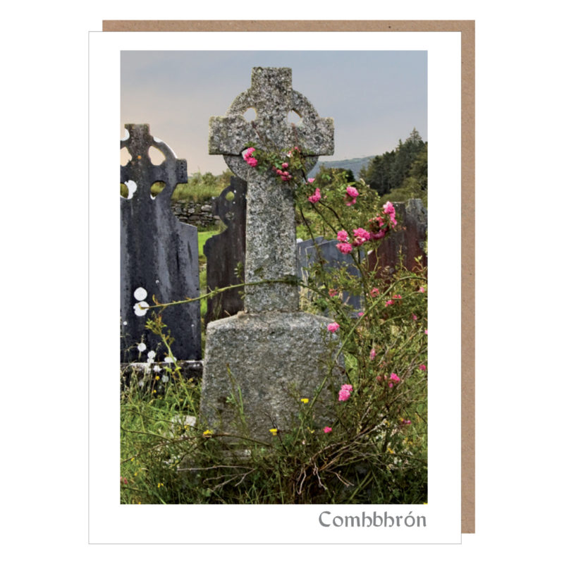 irish sympathy card celtic cross