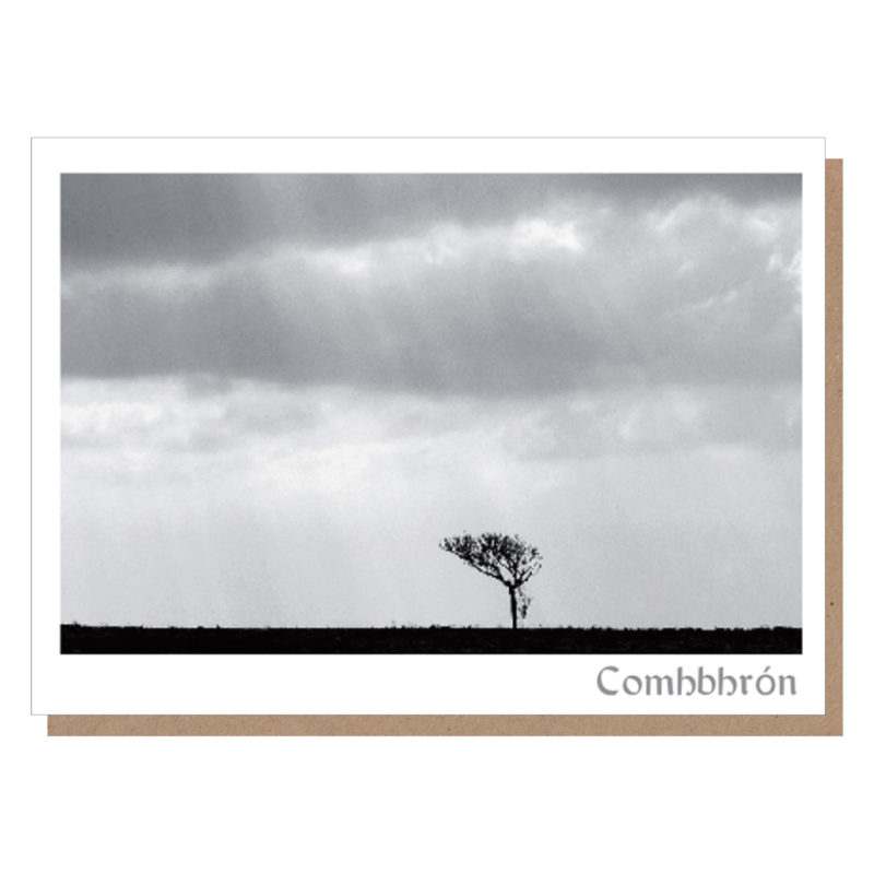 irish sympathy card comhbhron