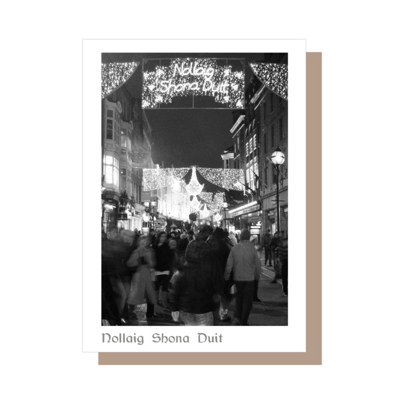 Grafton Street Dublin Christmas Card