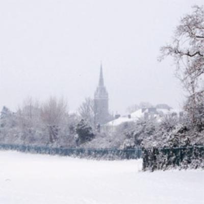 malahide christmas card, malahide, fingal cards, malahide cards, malahide in the snow, malahide from the castle