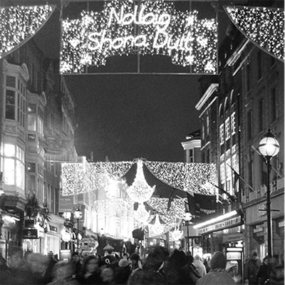 grafton street, nollaig shona - happy christmas, dublin christmas card, ireland christmas card, made in ireland