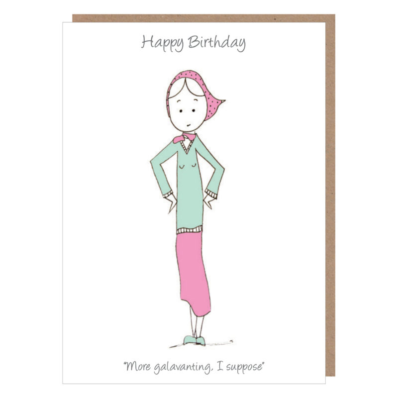 more galavanting birthday card