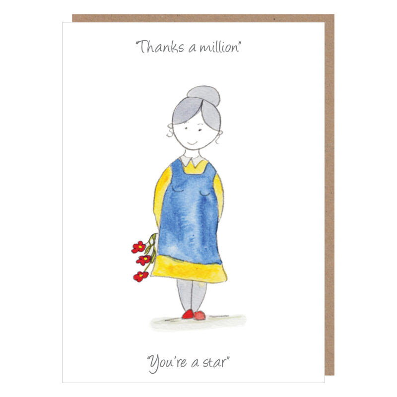 thanks a million irish mammy card by catherine dunne