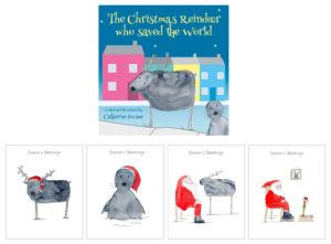 Christmas Reindeer Book and Christmas Cards
