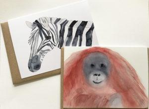 zebra and orangutan