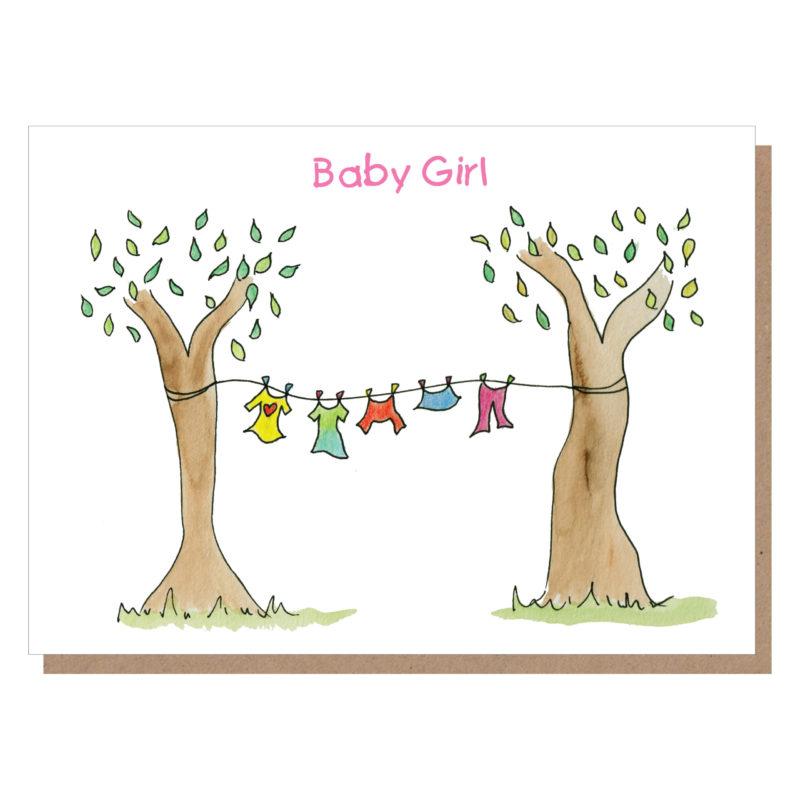 baby girl card, new baby card ireland