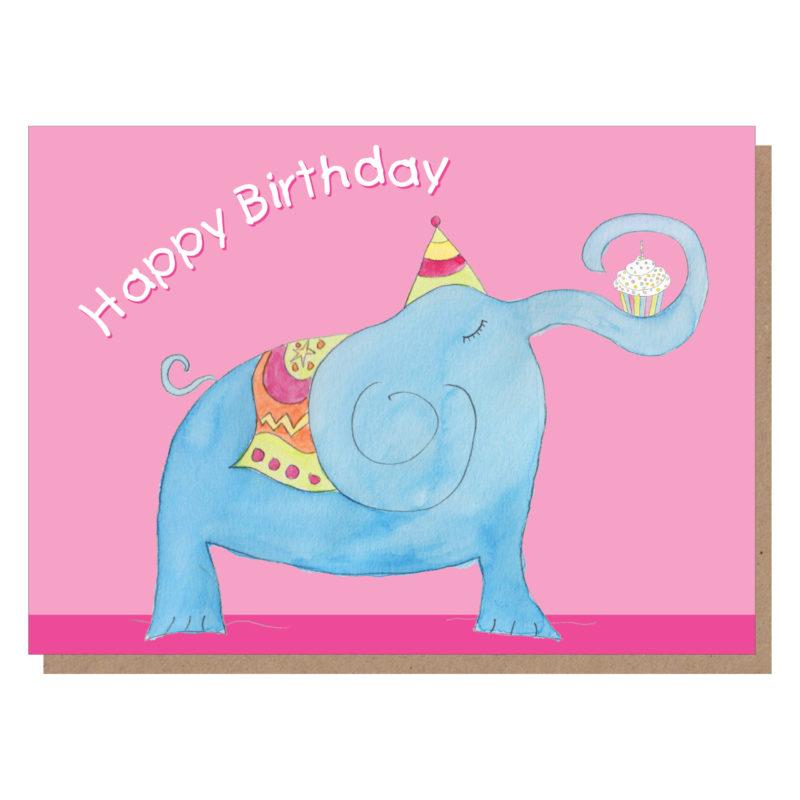 elephant birthday card by catherine dunne
