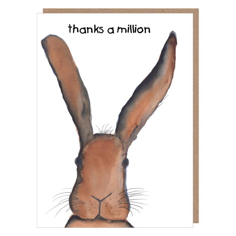 irish hare birthday card by catherine dunne