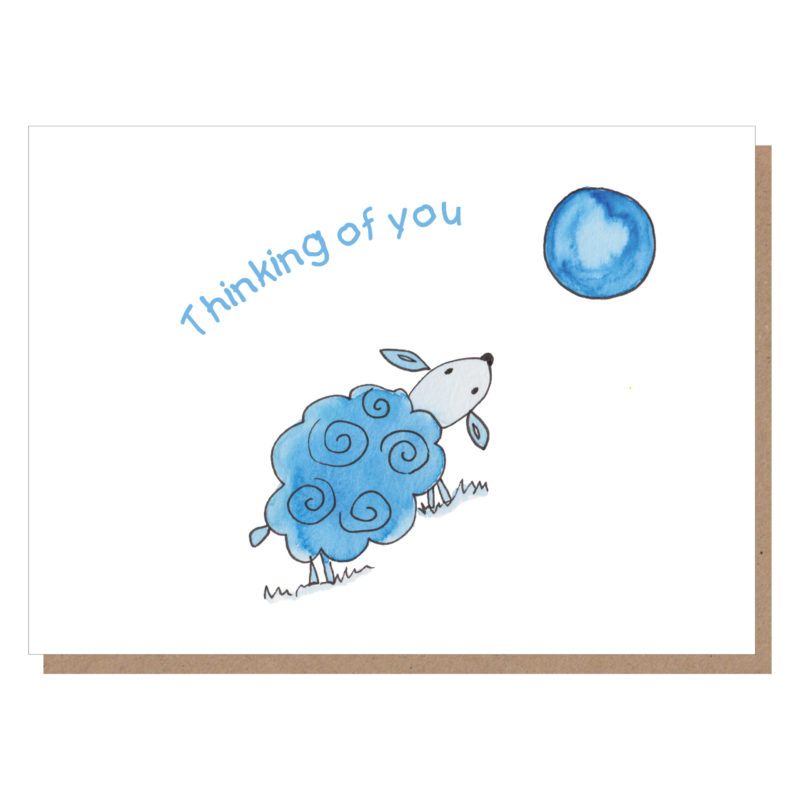 thinking of you sheep card
