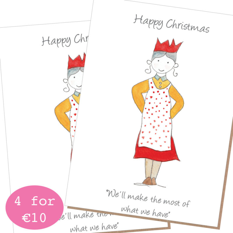 mammy we'll make the most of what we have pack of 4 by catherine dunne irish greeting cards christmas 2020