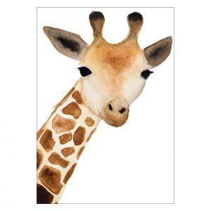 Giraffe art A3 by Catherine Dunne