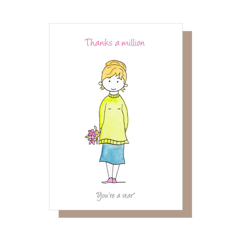 Thanks a million from the Mammy Collection of greeting cards by Catherine Dunne