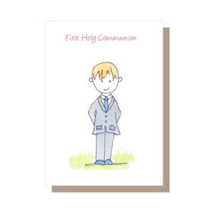 First Holy Communion card by Catherine Dunne