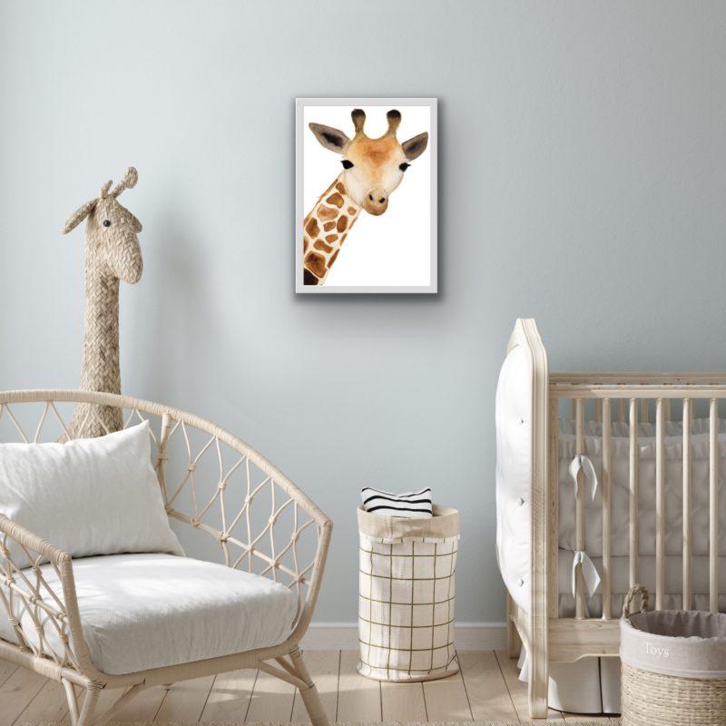 giraffe wall art by catherine dunne
