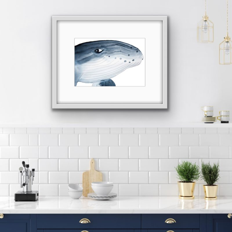 whale wall art by catherine dunne